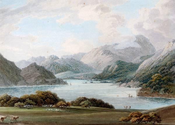 Lake District View With A Fisherman